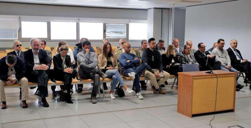 Momento del segundo de los juicios por el desv�o de fondos de la Generalitat . EFE/Archivo