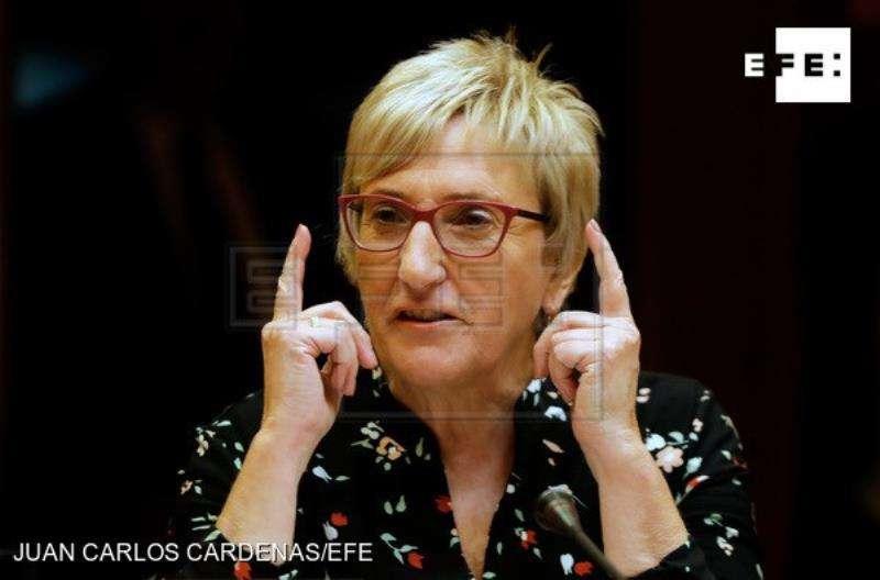 La consellera de Sanidad, Ana Barceló, informa en Les Corts de los presupuestos de su departamento para el próximo año, que ascienden a 6.635 millones de euros, un 3,1% más que en 2018. EFE