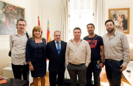 Los representantes de Maranatha recibidos en la Diputación de Valencia. Foto EPDA