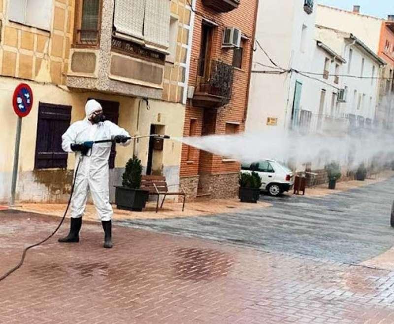 Imagen de archivo desinfección de calles./ EPDA