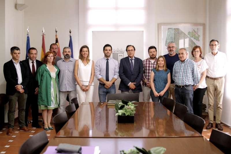 Visita del conseller de Hacienda y Modelo Económico. EPDA