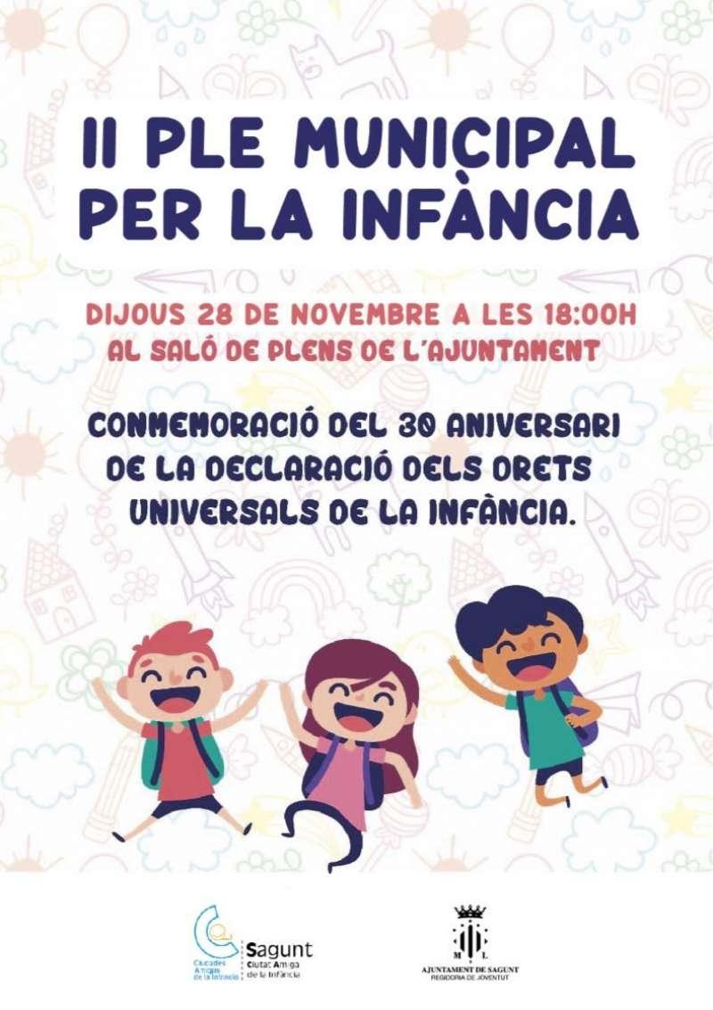 Cartell del II Ple Municipal per la Infància. EPDA
