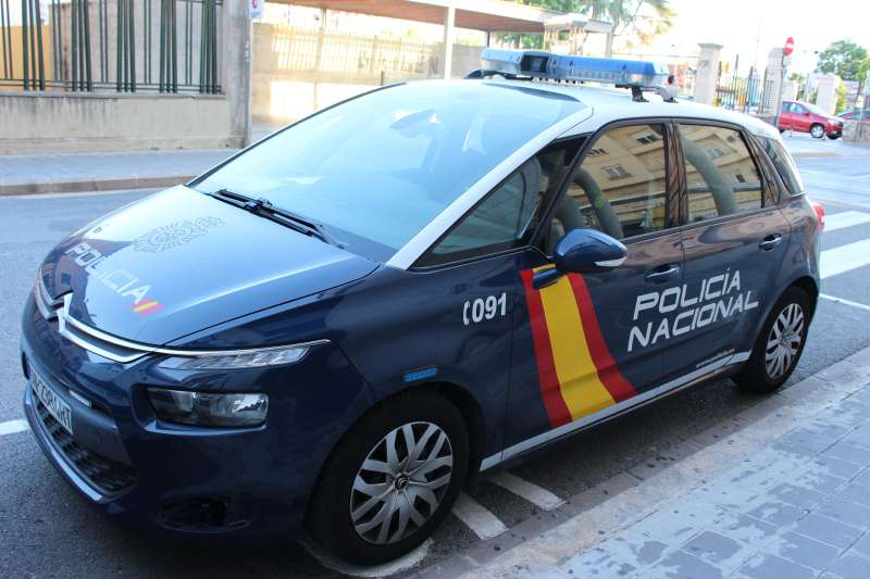 Un coche de la Polic�a Nacional.