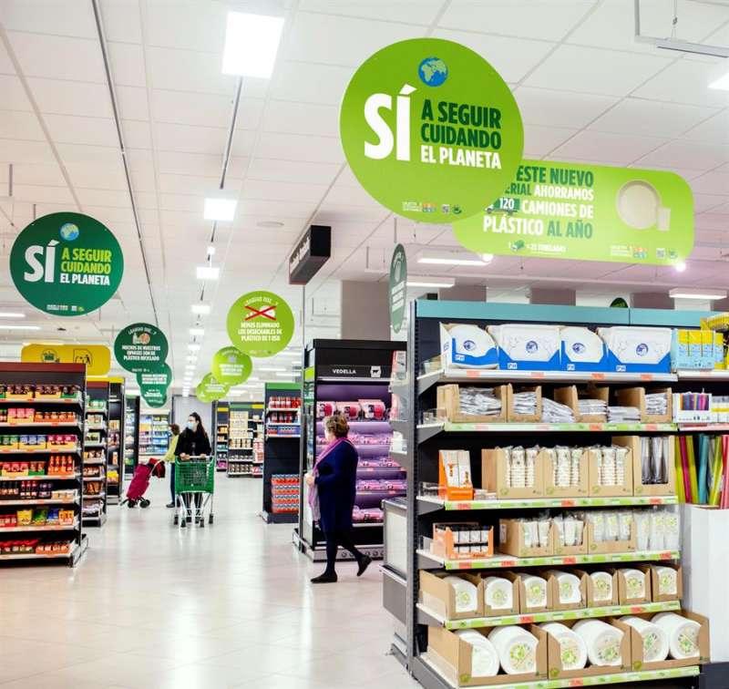 Mural del nuevo menaje de Mercadona, en una imagen distribuida por la cadena de supermercados.