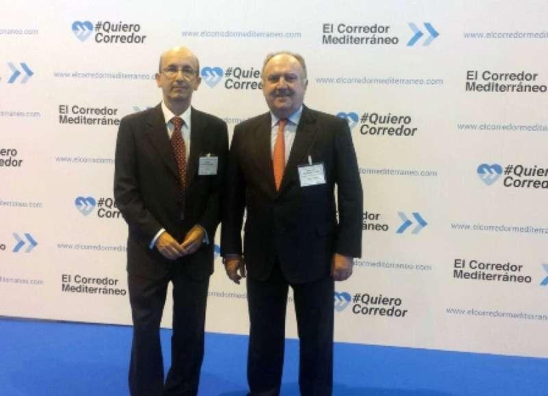 Presidente de Asivalco y Fepeval, Santiago Salvador, y el gerente de Asivalco, Joaquín Ballester. EPDA