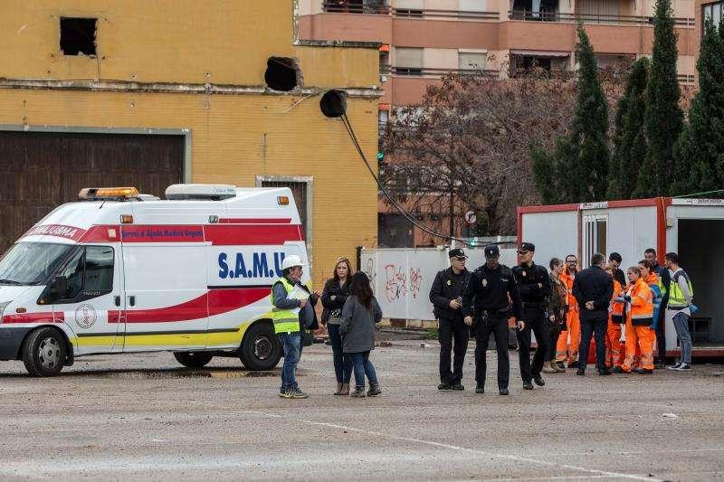 Imagen de un accidente laboral ocurrido en València. EFE/Archivo