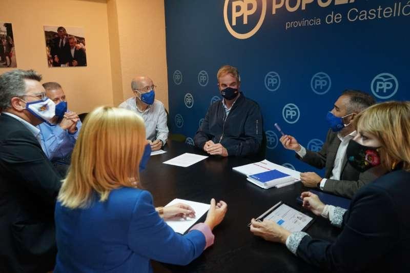Reunión PPCS con el presidente provincial, Miguel Barrachina