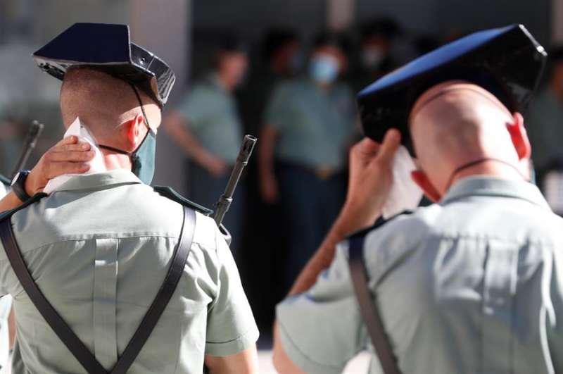 Agentes de la Guardia Civil durante un acto. EFE/Archivo
