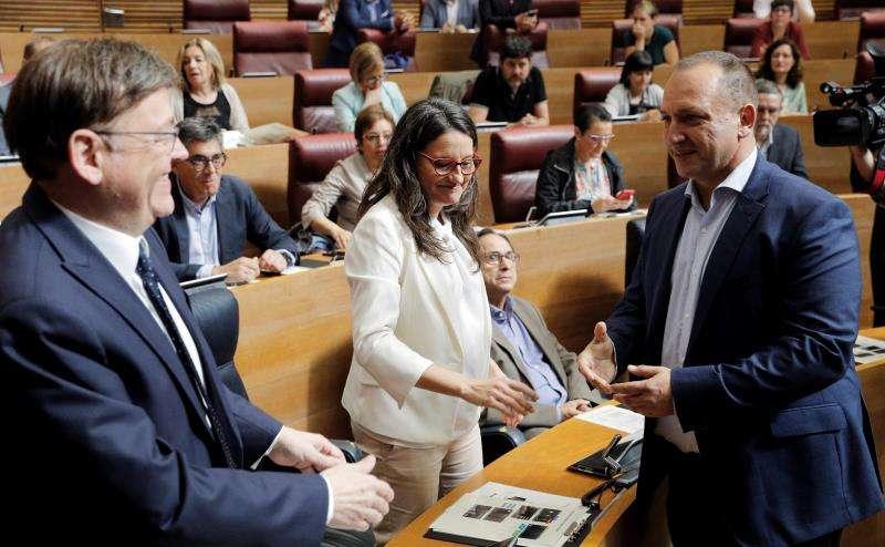 Puig,Oltra y Martínez Dalmau.EFE