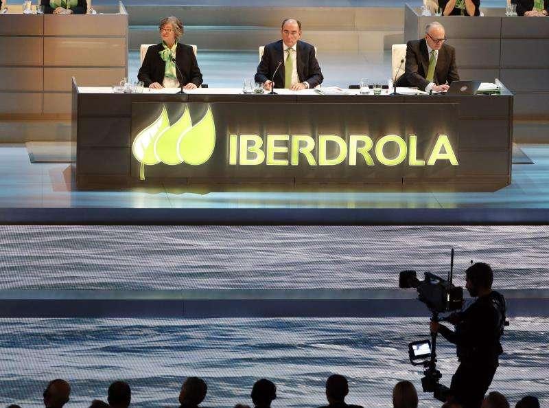 Momento de la última Junta de Accionistas de Iberdrola, celebrada hace unos días. EFE