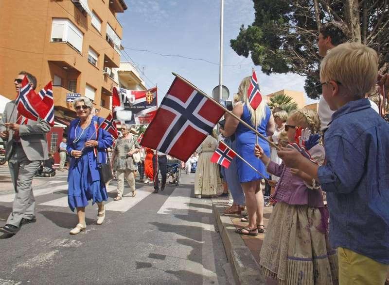 Imagen de archivo de la celebración del día de Noruega en Alfaz del Pi (Alicante). EFE/Morell/Archivo