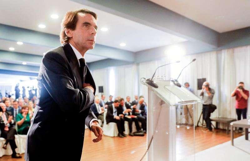 El expresidente del Gobierno José María Aznar clausura el tercer foro Ideas FAES, en el que se debate sobre la necesidad de una reforma fiscal y los problemas derivados del actual modelo de financiación autonómica. EFE