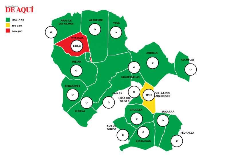 Mapa de La Serranía. EPDA.