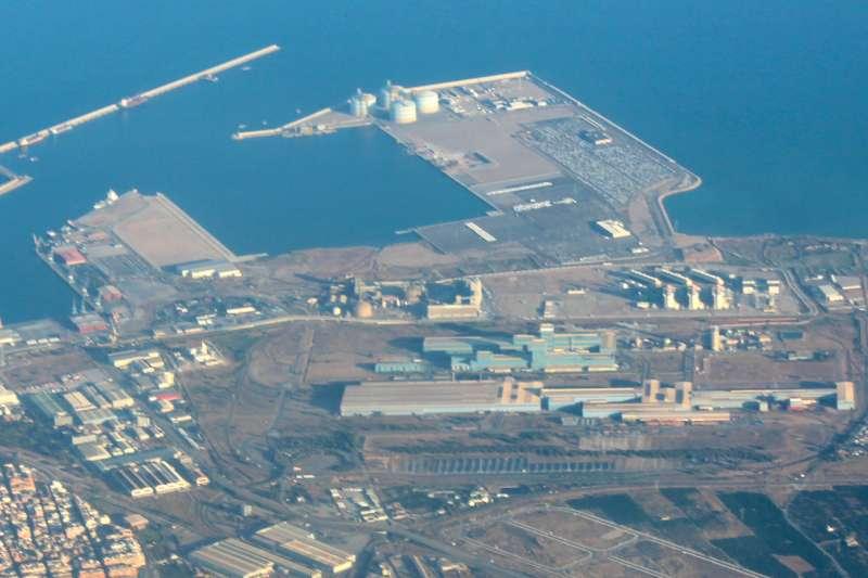 Vista aérea de Port de Sagunt.