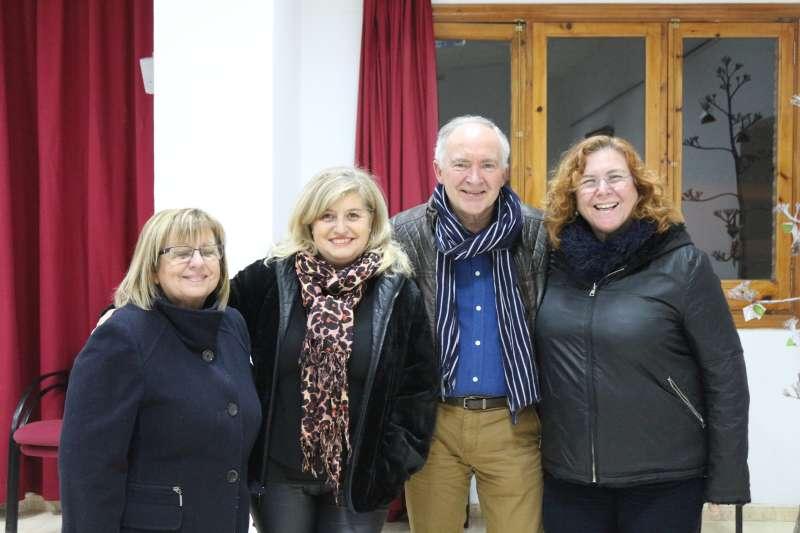 Rafa Martín con Montse, Mª Carmen y Marisa