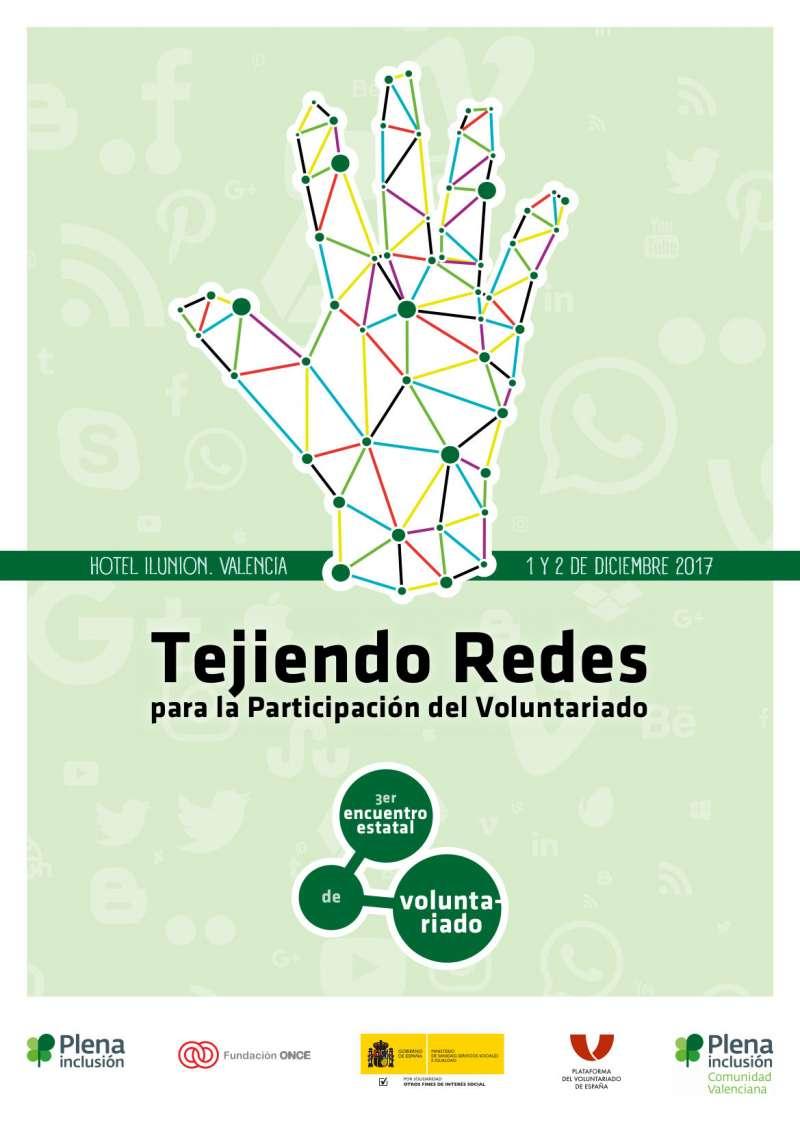 Cartel del Encuentro de Voluntariado en València. EPDA