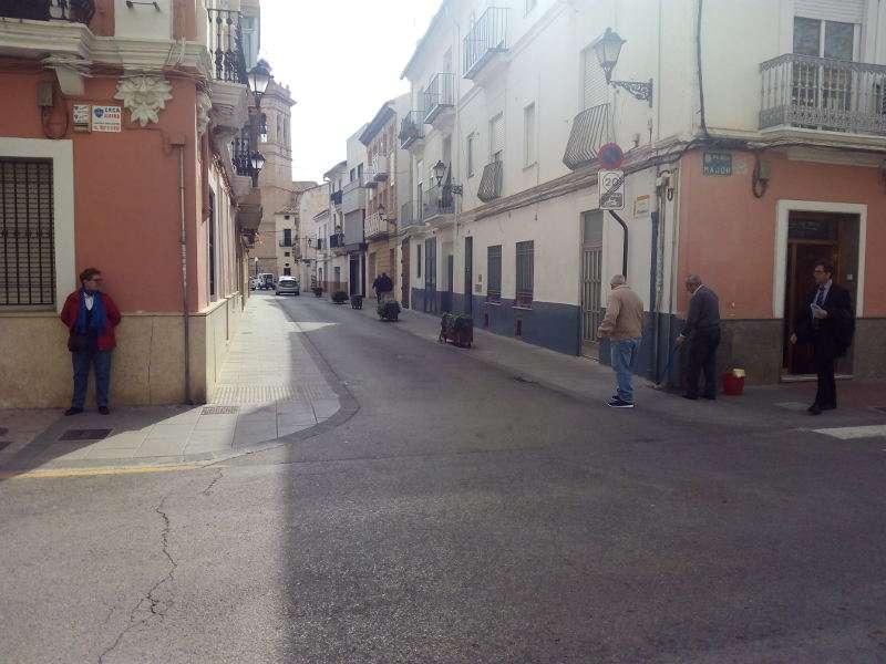 Esquina de la calle Iglesia con calle Mayor en Torrent. EPDA
