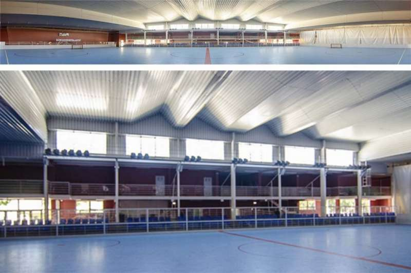 Polideportivo municipal de Oropesa, Castellón./ PDA