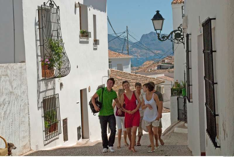 Turistas de visita por la Comunitat Valenciana.