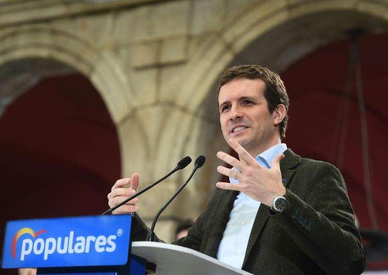 El presidente del Partido Popular, Pablo Casado, en un acto público. EFE/Archivo
