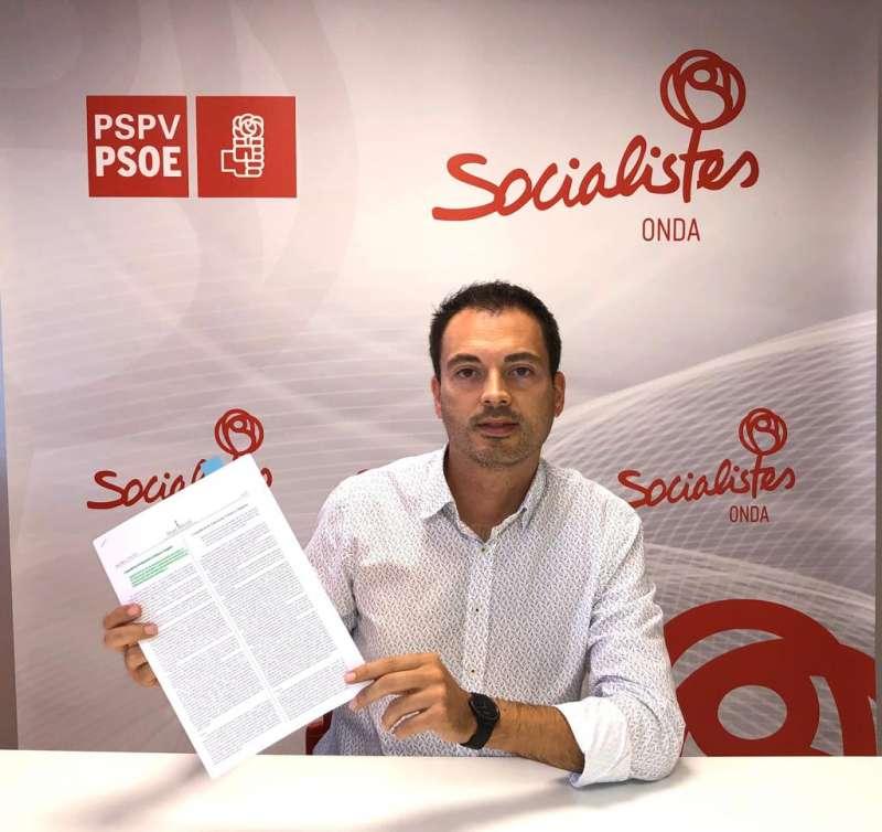 Ximo Huguet, portaveu del grup municipal socialista. -EPDA