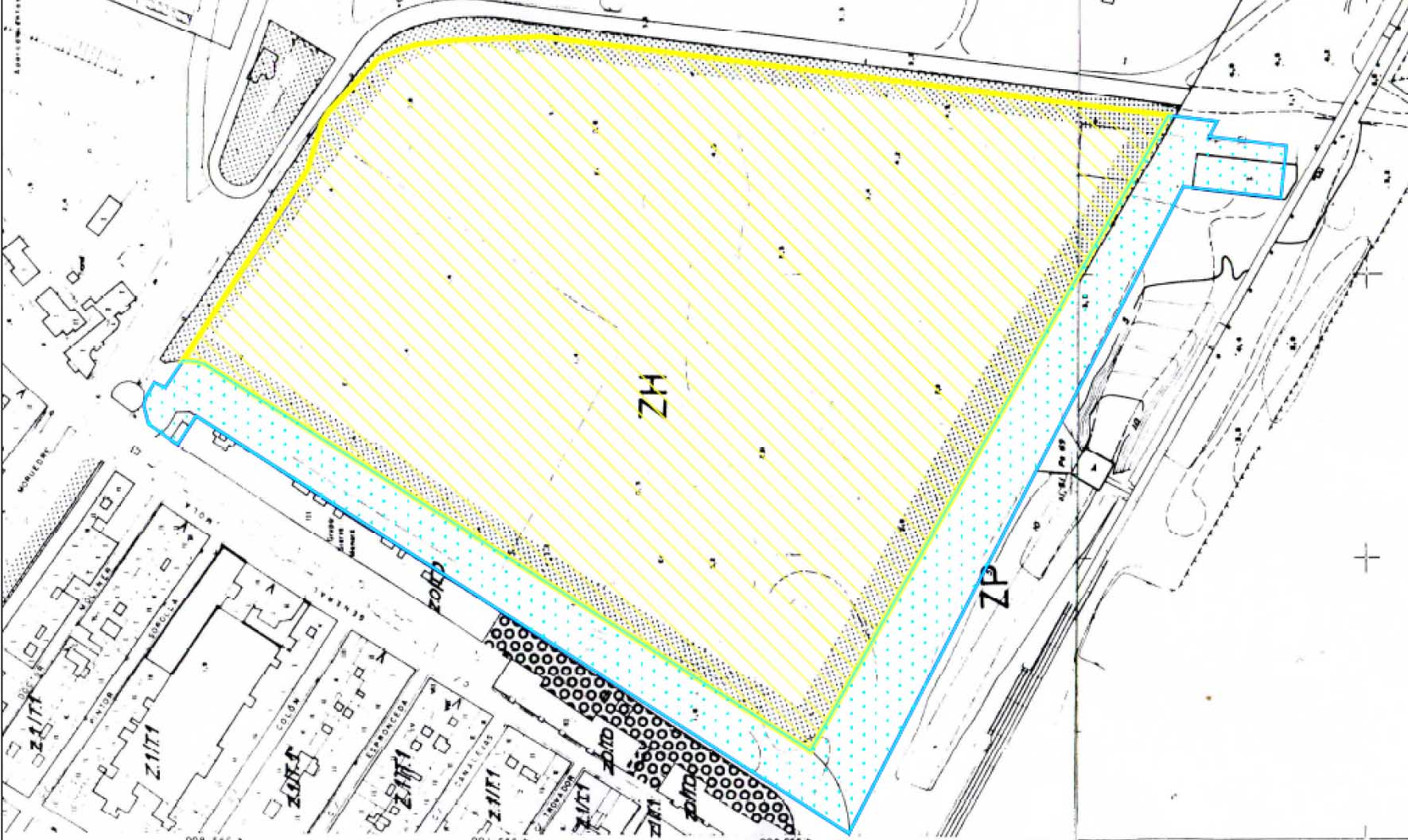 Plano del Malecón se Menera adjuntado en el informe de Urbanismo.