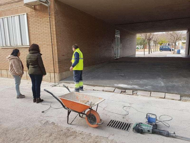 Obras de mejora de accesibilidad en el colegio Martínez Torres de Aldaia. EPDA