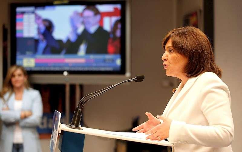 La presidenta del PPCV, Isabel Bonig, en un acto de partido. EFE/Archivo