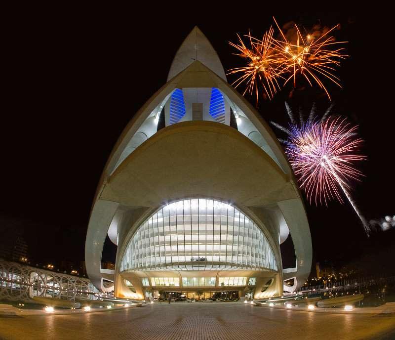 El Palau de les Arts Reina Sofía en la Nit del Foc
