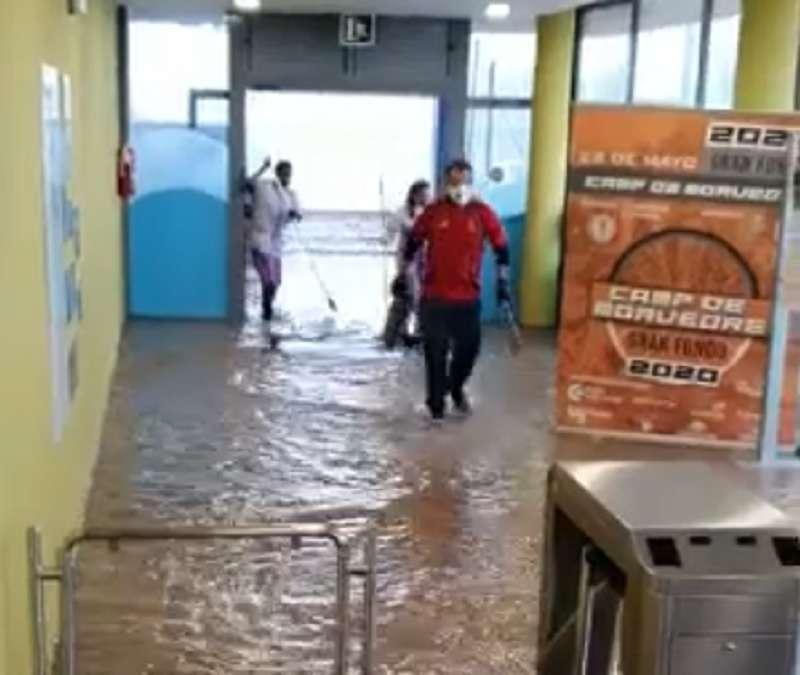 Instalaciones afectadas por la lluvia. EPDA