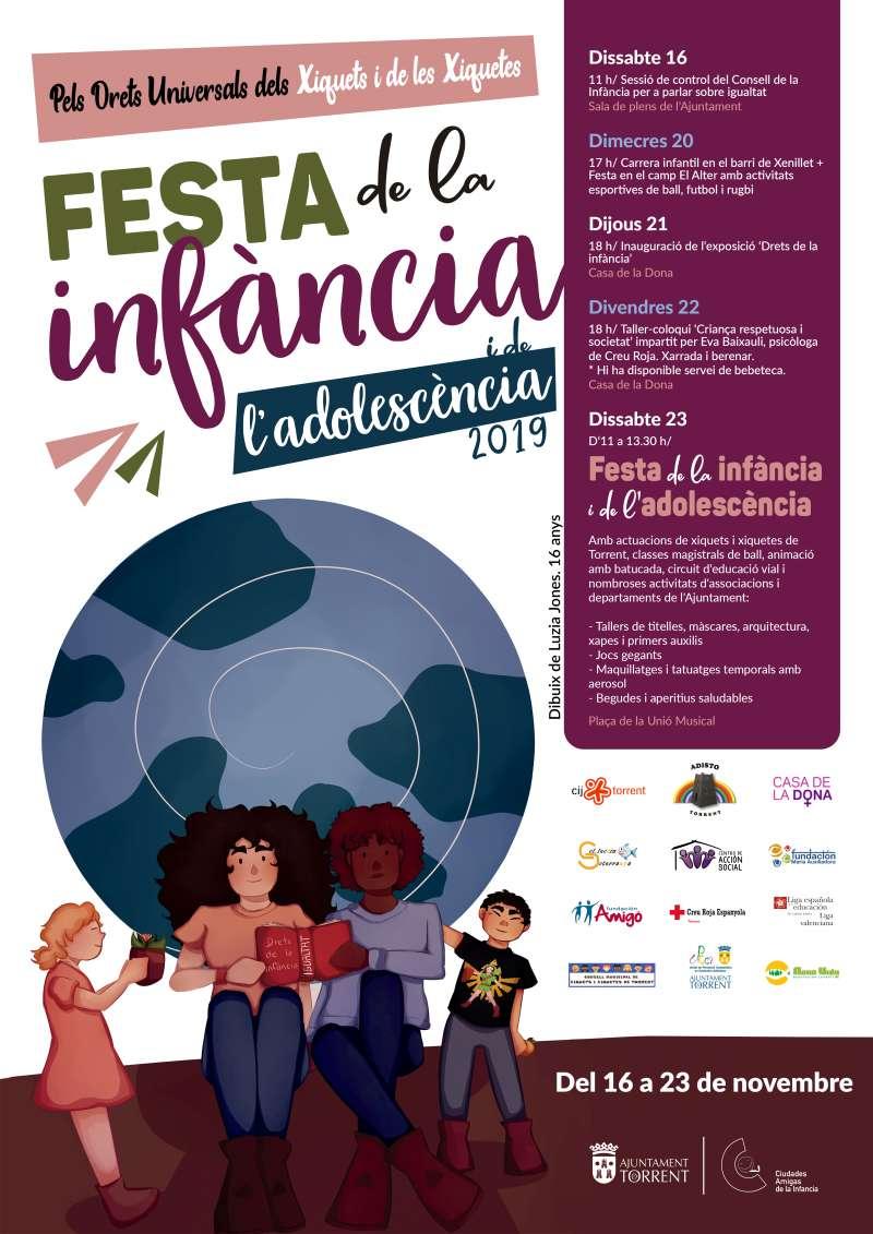 Cartel de la Fiesta de la Infancia. EPDA