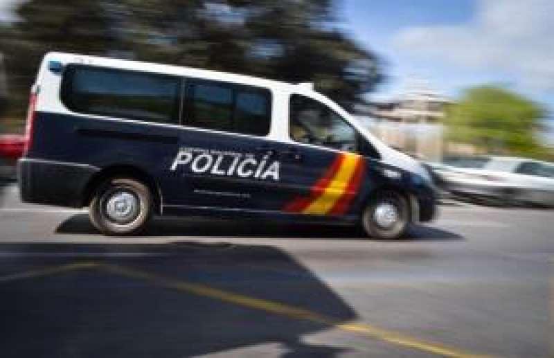 Un furgón de la Policía Nacional. EFE