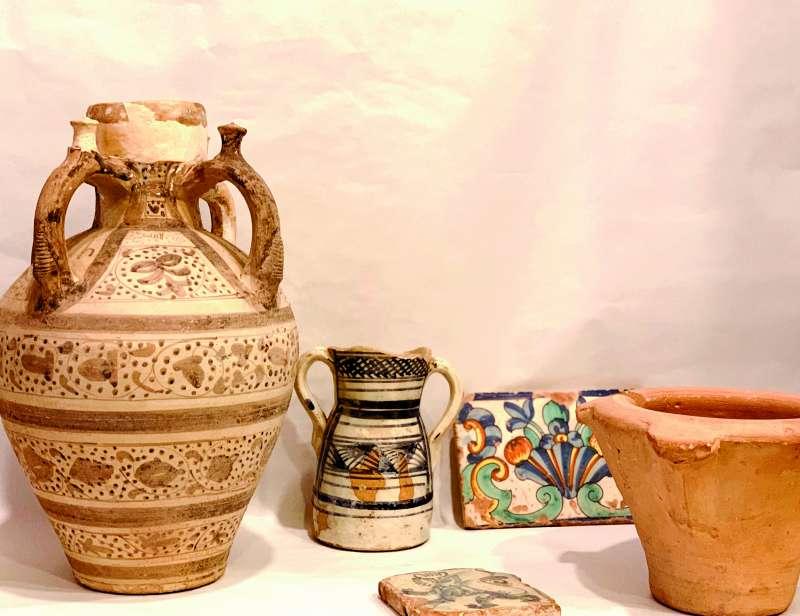 Algunas de las piezas de la colección incorporada al Museo