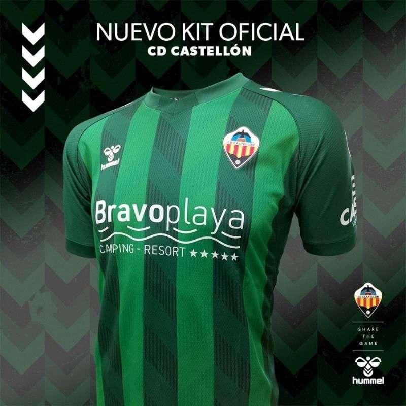 La segunda equipación del CD Castellón, en una imagen compartida por el club.