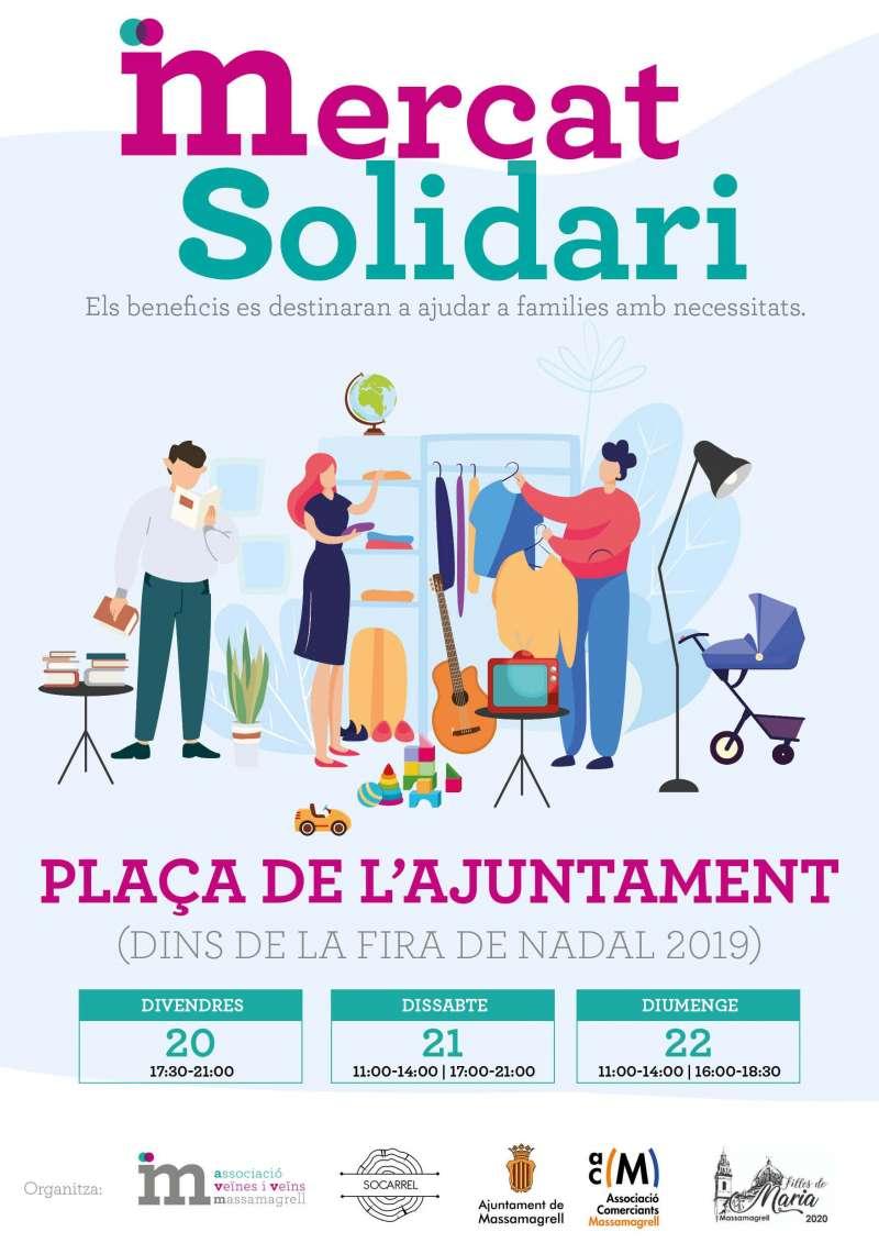 Cartel del Mercat Solidari. EPDA