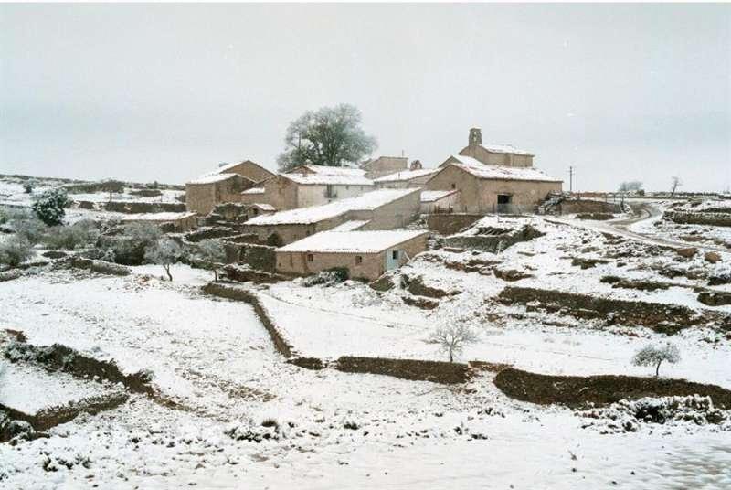 Imagen de archivo de la comarca de Els Ports nevada. - EFE