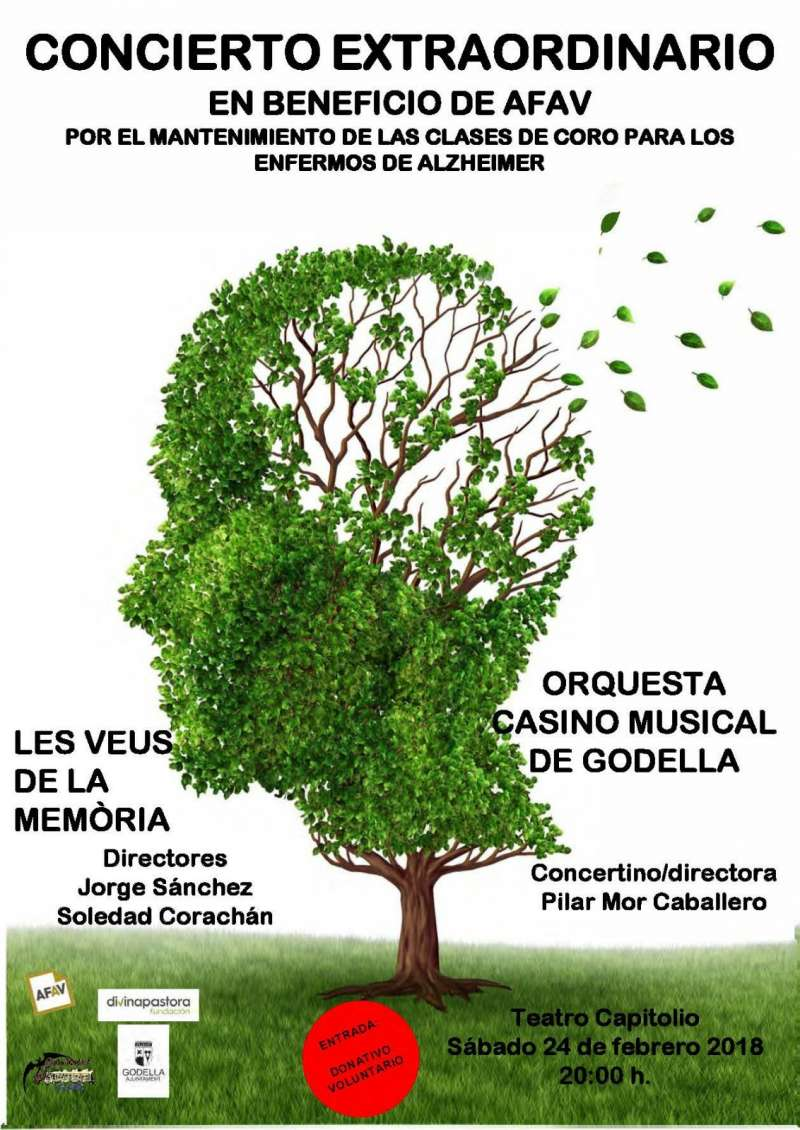 Cartel del concierto en Godella.