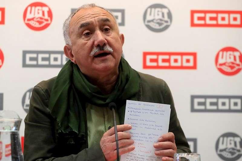 El secretario general de UGT Pepe Álvarez, en una imagen reciente EFE