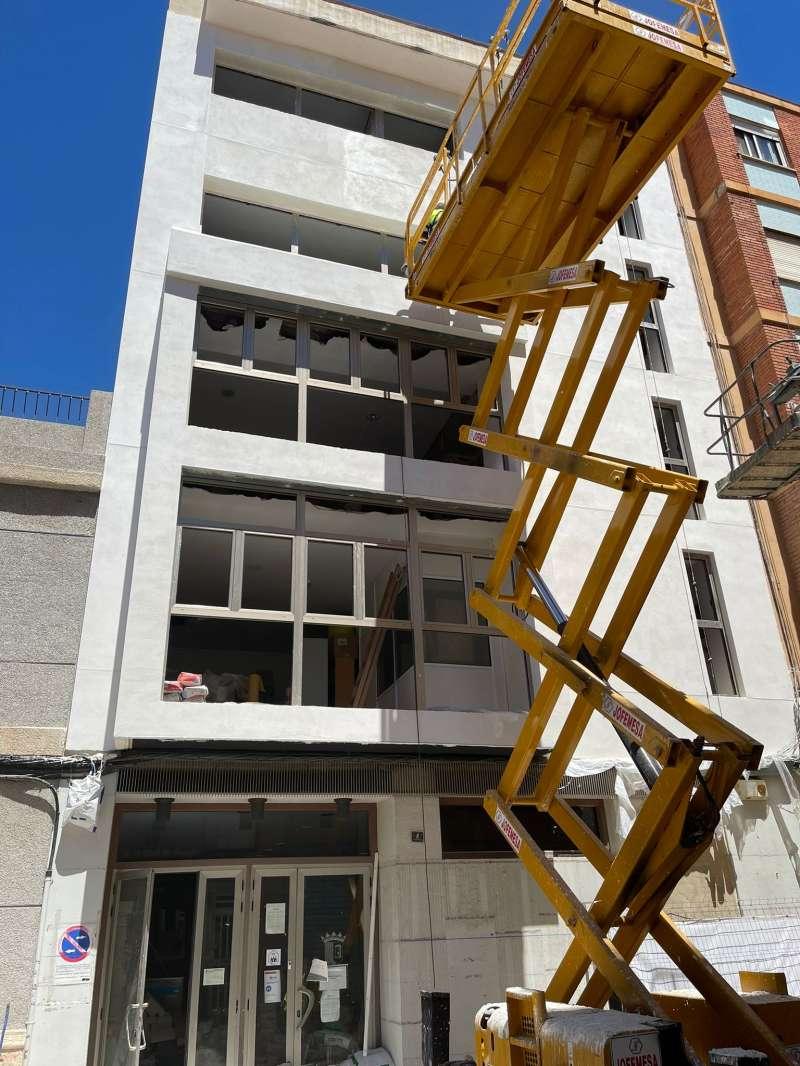 Obras del edificio municipal en San Francisco de Borja de Paterna.