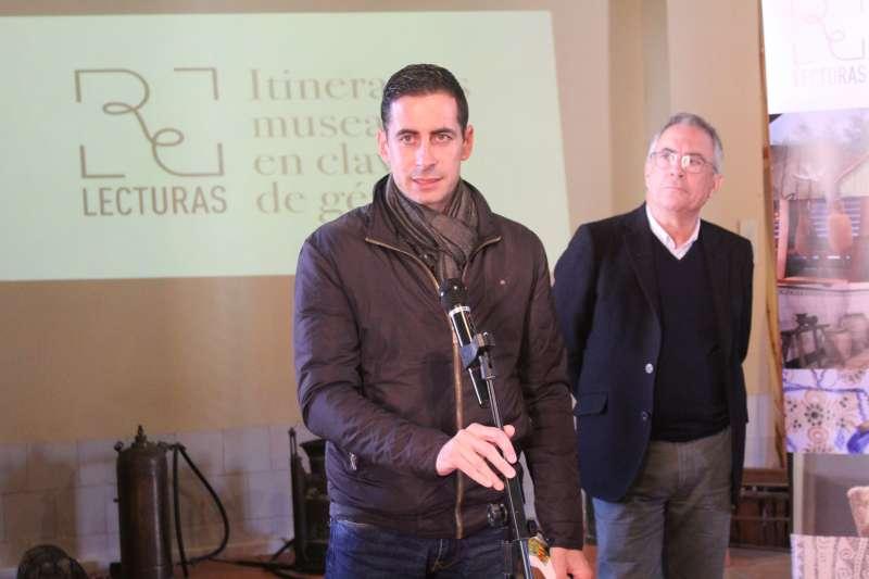 El president del Museu Comarcal, Carlos Fernández Bielsa, a la presentació del projecte Relecturas, on participa aquest museu. EPDA