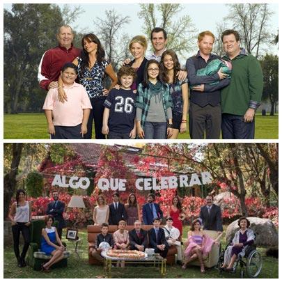 Algo que celebrar (abajo) inspirado en Modern Family (arriba). FOTOS ABC/ANTENA 3