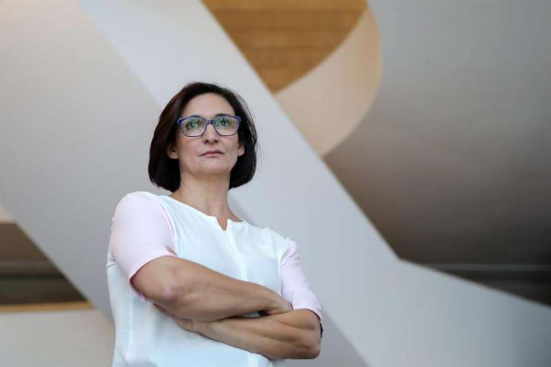 Nuria Enguita, durante su presentación como nueva directora del Instituto Valenciano de Arte Moderno (IVAM). EFE