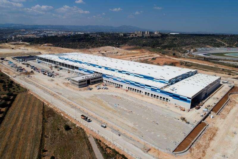Imagen aérea de las futuras instalaciones, en una imagen facilitada por Lidl.