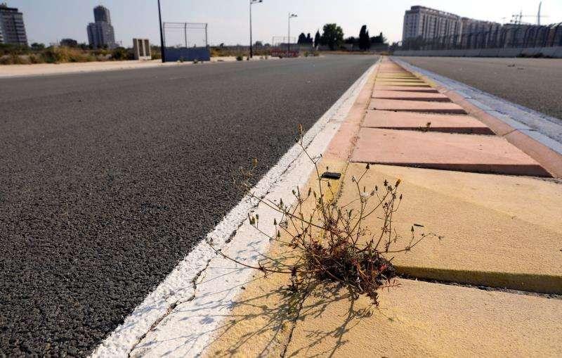 Vista general de un tramo del que fuera el circuito de la Formula Uno de València. EFE/Archivo