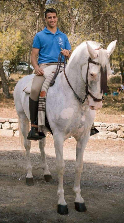 Dani Palomar con Greco. Foto: D. Torres