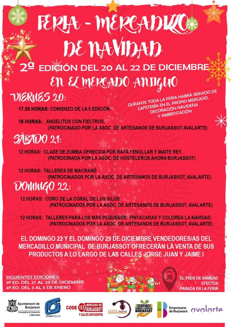 Cartel de la segunda edición de la Feria-Mercadillo. EPDA