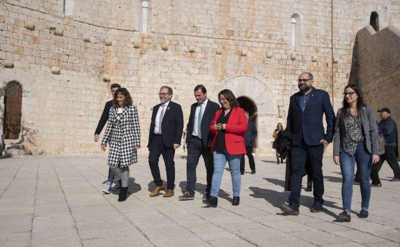 Reciente visita al castillo del Papa Luna
