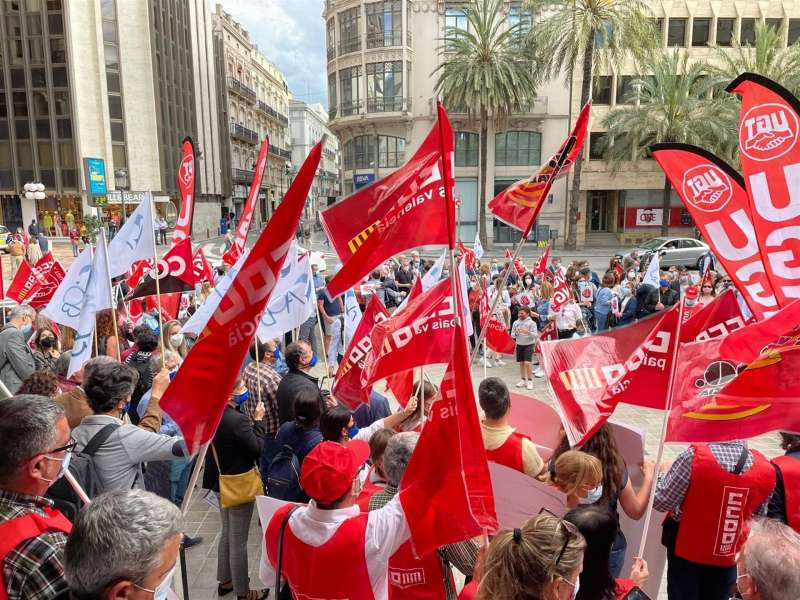 Imagen de la concentración facilitada por la organización.