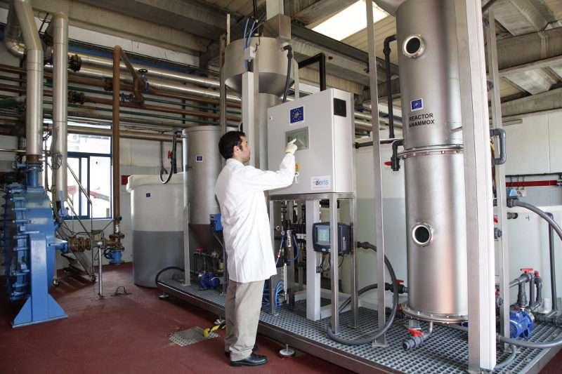 Planta experimental de depuración de aguas, en la localidad catalana de Rubí-Valldoreix