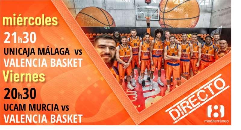 Miércoles, partido del Valencia Basket en directo. LA 8 MEDITERRÁNEO